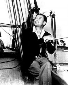 Errol Flynn aboard his yacht. Old Paris, Old London, Sean Flynn, Errol Flynn, Classic Movie Stars, Old Hollywood, Hero, Actors, Film