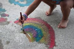 Corn Starch Painting {Playing House - Toddler Art}