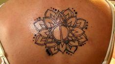 Amazing flower deathly hallows tattoo