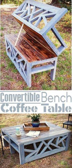 Convertible Bench into a Coffee Table