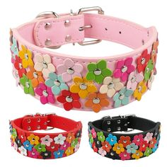 Cheap flowers faith, Buy Quality dog symbol directly from China dog cloak Suppliers:                               Flower Studded Pu leather Dog Pet Collars