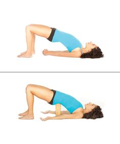 Shoulder Stand , Butt-Firming Yoga Poses You've Gotta Try Now Yoga First Trimester, Shoulder Stand, Deep Breathing Exercises, Bridge Pose, Prenatal Yoga, Hip Ups, Pranayama, Yoga Benefits, Lunges