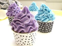 DIY Piped Cupcake Soap...this is a brilliant process. With this you could even pipe soap rose petals, soap candy and more, love this!