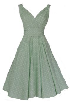 Ladies 40's 50's Vintage Retro Style Pastel Green Polka Dot Party Tea Dress New | eBay