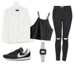 Witte blazer: Mango   Croptop: H&M   High waisted skinny jeans: Jamie jeans van Topshop   Horloge: Casio   Nike … Read More →