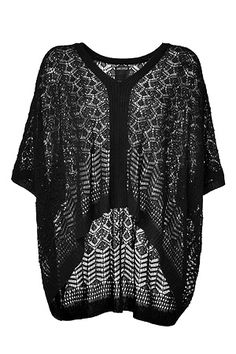 ANNA SUI  Black Ajour Knit Oversized Pullover  Available At: http://www.stylebop.com/product_details.php?menu1=designer==1361=389061#