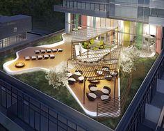 Moderne Dach Terrasse Aussicht Offen Frei Möbel | My Home And ... Moderne Dachterrasse Unterhaltungsmoglichkeiten