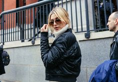 Hailey Baldwin - The Best Street Style looks from the New York's Fall 2016 Shows photographed by Phil Oh - Vogue - Bxy Frey