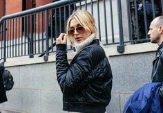 Hailey Baldwin - Street Style at New York Fashion Week, February 2016 Street Style 2016, Model Street Style, Autumn Street Style, Street Style Looks, Street Chic, Street Snap, New York To Paris, Fashion Week 2016, Models Off Duty