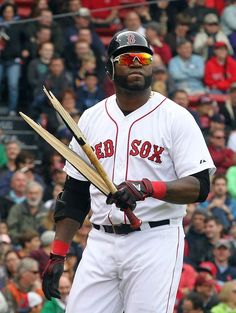 David Papi Ortiz busted his bat out of frustration.