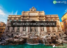 Throw a coin and make a wish at the Trevi Fountain in Rome; who knows it may just come true! #Wanderlust