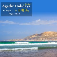 Enjoy your Winter Sun Holidays to #Agadir in Morocco famous for its seaside promenade lined with exotic cafes, restaurants and bars.  Book your Holidays to Agadir only with Home and Away Holidays with Price Fr £190 pp for 7 nights with Flight. For more details call our #Holiday Experts now on 0116 237 2535. http://bit.ly/Agadir_Beach_Holidays