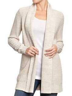 Women's Textured Open-Front Cardis   Old Navy. I love open front cardigans. So flattering.