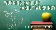 """Proverbs 18:9 says, """"One who is slack in his work is brother to one who destroys.""""In this Bible game, we use a team race to show the Biblical principle of due diligence. If one person slacks…the whole team suffers! Back to School Bible G"""