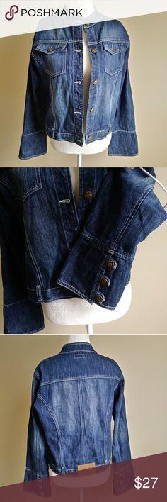 Classic Denim Blue Biker Collar Jean Jacket Bjeans  Classic Denim  Biker Collar Jacket 100% Cotton Approximate Measurements Length 21 Bust 42 Sleeve 24 B Jeans Jackets & Coats Jean Jackets