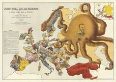 John Bull and his Friends - A Propaganda map of Europe from recent Economist Article European Map, European History, Old Maps, Antique Maps, Satire, Nyc Subway Map, Map Maker, Map Of New York, Art Graphique