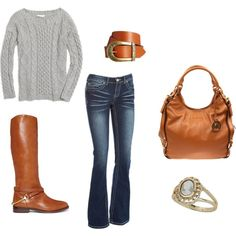 """""""Casual Fall Outfit"""" by kate-arlene on Polyvore"""