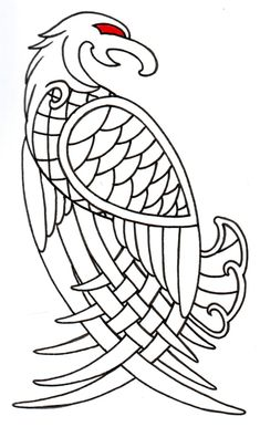 Viking Celtic Eagle Outline by vikingtattoo @ deviantART Mehr Norse Tattoo, Celtic Tattoos, Raven Tattoo, Celtic Patterns, Celtic Designs, Celtic Symbols, Celtic Art, Eagle Outline, Vikings
