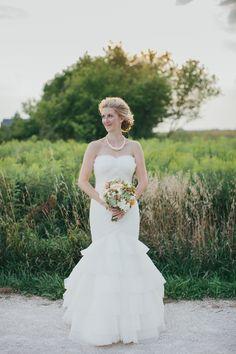 Mori Lee bridal gown. Photo: M Lindsay Photography