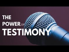 The power of testimony. - bolaoged.com