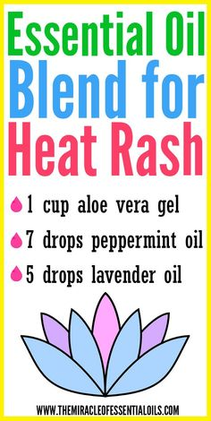 DIY Essential Oil Blend for Heat Rash - The Miracle of Essential Oils Essential Oils For Rash, Essential Oil Uses, Doterra Essential Oils, Yl Oils, Oils For Eczema, Oils For Skin, Young Living Oils, Young Living Essential Oils, Heat Rash Treatment