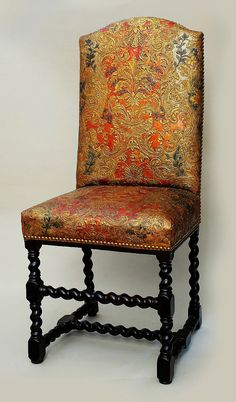 Cuir de Cordoue upholstered chair by Anonymous, turn of the 17th and 18th century,  Muzeum Narodowe w Warszawie (MNW)
