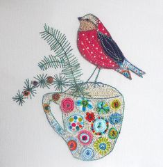 applique and free machine embroidery.  By Beverley Holmes-Wright, @ www.stitchingforthesoul.co.uk