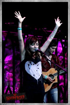 I wanna meet Lacey Sturm.  She has an amazing testimony, and she's an amazing singer.