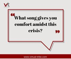 What song gives you comfort amidst this crisis?  #VirtualLove #VirtualTribe #SafeAtHome #StoptheSpread Virtual Assistant Services, Songs, Life