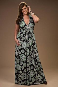 If you found a wonderful fabric to show off (unlike this which has medallions over the boobs) Women Plus Size Maxi Dresses