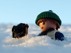 Playmobil in the snow