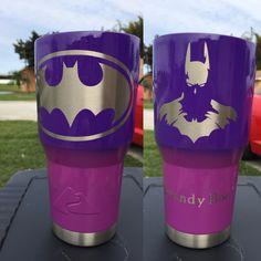 Batman Custom Powder Coated Cups! No Stickers No Vinyl! 100% Powder Coat! Need a Cup, Hit me Up! The Cup Plug!