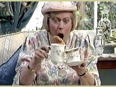 Watching British Comedy is almost like watching the Three Stooges, a lot of laughs with little required in thinking. Keeping Up Appearances: Josephine Tewson British Tv Comedies, British Comedy, British Actors, Funny Sitcoms, English Comedy, Bbc Tv Shows, Little Britain, Keeping Up Appearances, British Humor