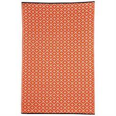 Kimberley Cotton Rug in Orange - 180x270cm