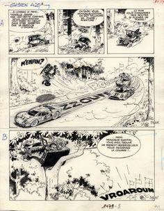Gaston Lagaffe par Franquin. Gag 420 du 18 août 1966.