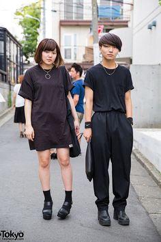 Harajuku All Black Minimalist Fashion