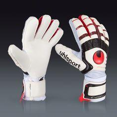 uhlsport Cerberus Supersoft Bionik - White/Red || SOCCER.COM