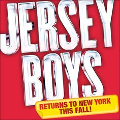 BREAKING NEWS: We've been BEGGIN' this show did not leave and it's here to stay! The Tony and Grammy Award winning smash hit Jersey Boys makes it's way back to the New York … Broadway News, Jersey Boys, Lululemon Logo, Theater, Tours, Theatres, Teatro, Drama Theater