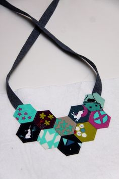 Mochi Necklace: Paper Pieced Hexagons | Sew Mama Sew | Outstanding sewing, quilting, and needlework tutorials since 2005.