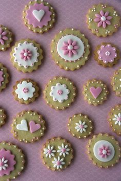 Galletas decoradas de flores
