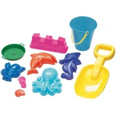 American Plastic Toys 10 Pc. Spring Value Sand Toy Set