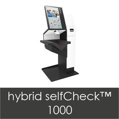 Self Check Top of the line product from the new bibliotheca (since the merger with This one configured with barcode reader. Self Service, Check, Top, Crop Shirt, Shirts, Self Care