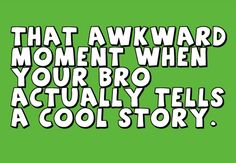 haha awkward..