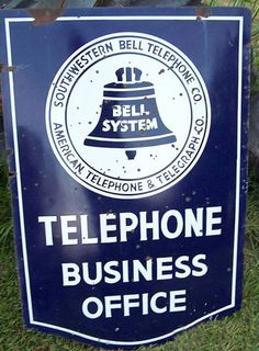 Solve Vintage Porcelain Sign ~ Southwestern Bell Telephone Co. jigsaw puzzle online with 70 pieces Advertising Signs, Vintage Advertisements, Vintage Ads, Porcelain Signs, Vintage Metal Signs, Vintage Telephone, Old Phone, Outdoor Signs, Old Signs