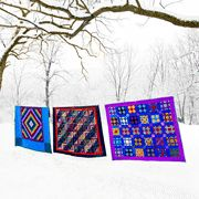 Pop of color  would love to snuggle under these in the winter!  @NotQuite Amish   #notquiteamish