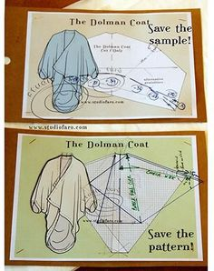 - The Dolman Coat. Problem solving for pattern making. Many more pattern making posts in my FREE Members Area. Girl Dress Patterns, Coat Patterns, Clothing Patterns, Sewing Patterns, Skirt Patterns, Blouse Patterns, Pattern Cutting, Pattern Making, Sewing Clothes
