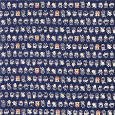 textured Japanese Asia fabric with geisha, warrior, buddha, merchant, ship etc.