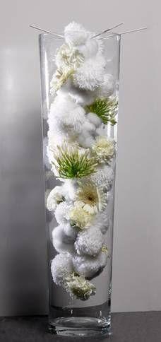 Winters sfeertje Christmas 2014, Merry Christmas, Xmas, Ikebana, Light Colors, Flower Arrangements, Cool Designs, Glass Vase, Floral Design