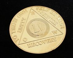 Alcoholics Anonymous 24K Gold Plated 55 Year How Old Style Medallion Chip Coin | eBay