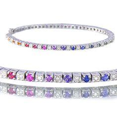 2.8ct Multicolor Rainbow Sapphire & Diamond 925 by RainbowSapphire